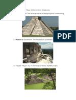 maya achievements vocabulary