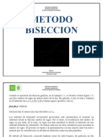 METODO BISECCION