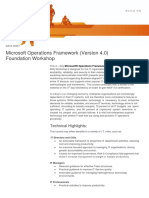 Microsoft Operations Framework(v4.0) Foundation Workshop(3Days)