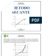 METODO SECANTE