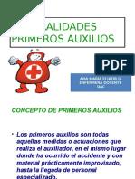GENERALIDADES PRIMEROS AUXILIOS