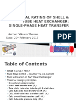Thermal Rating - Single-phase S&T Heat Exchanger
