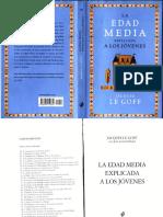 Le Goff, Jacques, La Edad Media explicada a los jóvenes.pdf