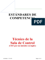 Estandar de Competencia Operador Sala de Control