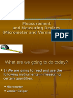 Vernier and Micrometer