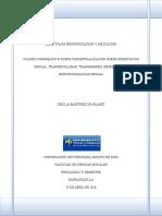 Cuadro Comparativo Conceptualización Sobre Orientación Sexual, Transexualidad, Transgenero, Heterogéneo, Disfuncionalidad Sexual