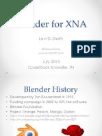 Blender Presentation Codestock