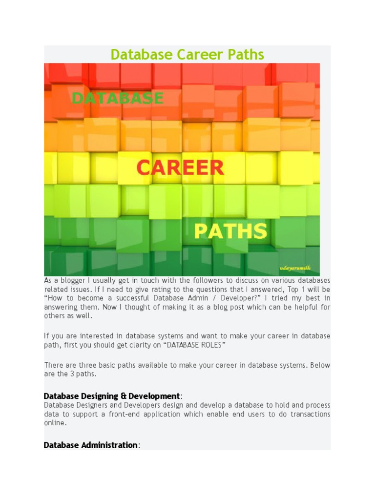 There are three career paths picture