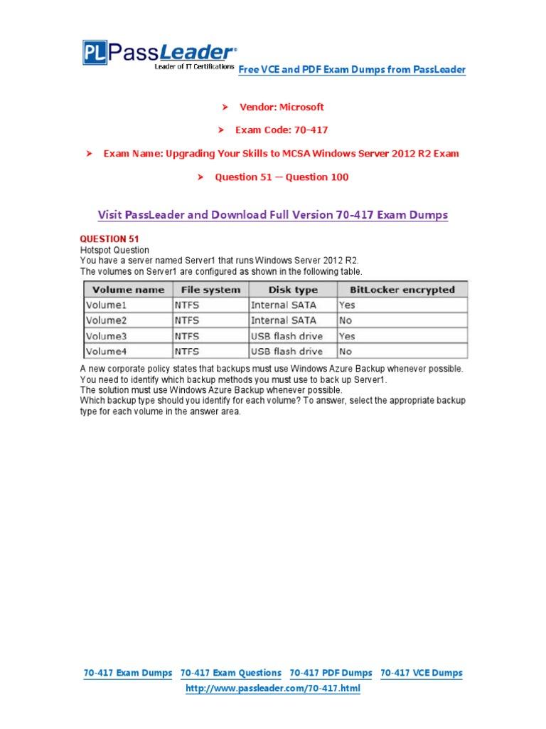 Microsoft 70-417 Pdf