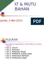 Sifat & Bahan - Jambi (2 Mei 2013)