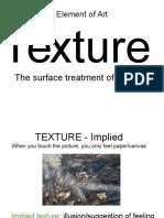 element of art- texture  student