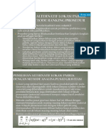 Analisis Dan Metode Pemilihan Lokasi Industri