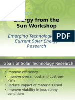 Solar Technology Research Powerpoint