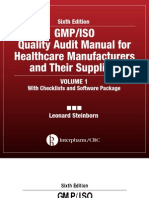 GMP-IsO Quality Audit Manual for Healthcare Manufacturers and Their Suppliers InterpharmCRC Sixth Edition VOLUME 1