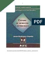 Estado de Derecho y Democracia - Jesus Rodriguez Zepeda