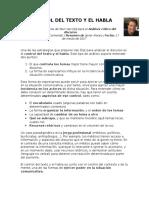Resumen del Control Del Texto y El Habla - Van DIjk