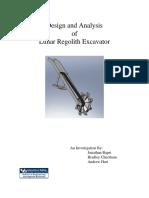 Lunar Excavator Design Report