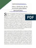 Partidos y defectos de la democracia pluralista - Autor