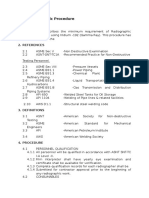 Radiography Testing Guide
