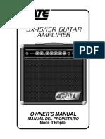 Crate GX-15 - GX15R Guitar Amplifier - Manual Del Propietario