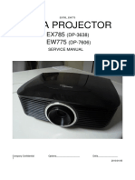 Optoma EX785_DP-3638 & EW775_DP-7606  ServiceManual_20100105