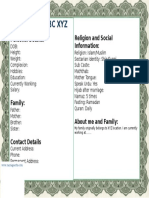 Biodata for Marriage - Muslim Format.docx