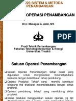 Satuan Operasi Penambangan
