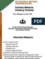 MTT223 Kuliah Ke-4 Ekstraksi Mekanis Tamka MAA HS (1)