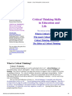 Education - Critical Thinking Skills in Schools and Life