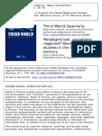 Development Studies in the 21st Century (1)
