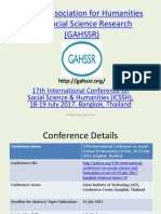 ICSSH July2017 Bangkok PPT