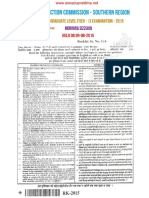 Ssc Cgl 2015 Morning paper with key