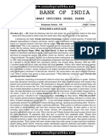 Sbi Probationary Officers Model Paper 2017