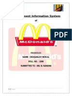 Mis Report - Mcdonalds