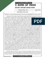 SBI PO's Prelim TEST Paper