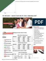 Fee Structure _ Amrita University M. Tech