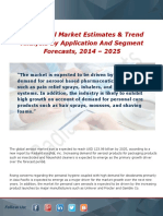 Aerosol Market Consumption Analysis, Guidelines Overview and Trends Forecast 2014 - 2025
