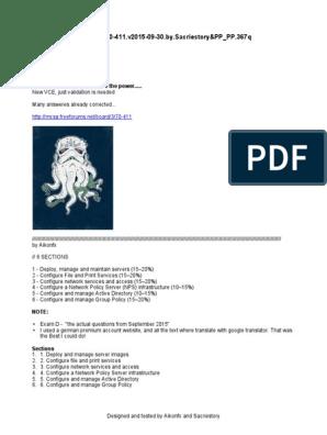 Microsoft 70-411 v2015-09-30 by Sacriestory_Aikonfx pdf