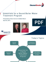 Essentials for a Sound Boiler Water Treatment Program