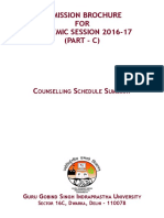 Admission Brochure (Part - C)