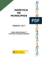 Paro españa- estadistica por municipios