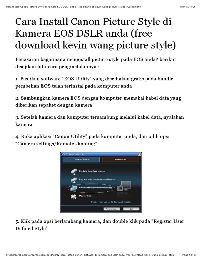 Download Picture Style Kevin Wang