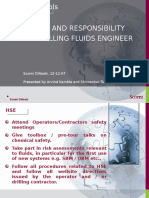 Role and Responsibilities of Drilling Fluids Engineers