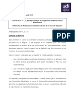 Amendement Du Groupe UDI Sur Politique Contractuelle 1 . 2 . 3 . 4