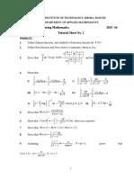 Maths Tutorial 2