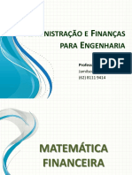 Matemática Financeira - Juros Composto