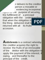 Pledge Antichresis RM
