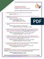 CONJUGAÇÃO PRONOMINALPronomes - Conjugação Pronominal - Regras e Exercícios