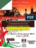 Día de La Tierra Paalestina 2017 Alcalá de Henares