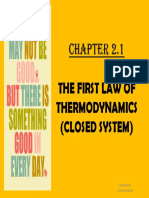 Chapter 2.1 the First Law of Thermodynamics